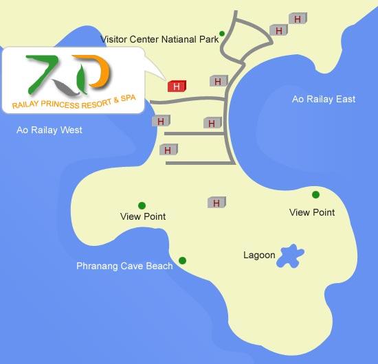 Map of Railay Princess Resort And Spa, Krabi Krabi Island Map on batam island map, cebu island map, hong kong island map, vancouver island map, amsterdam island map, bintan island map, koh mook island map, phu quoc island map, racha island map, samui island map, redang island map, thailand island map, surin island map, lombok island map, bali island map, koh phangan map, tioman island map, taipei island map, phuket map, paris island map,